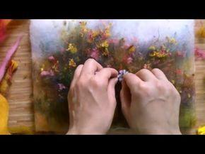 Картина из шерсти мастер класс. Яна Богданова - YouTube