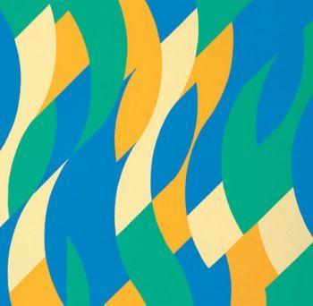 Бриджет Райли Reve 1999 Масло на полотне 228.3 х 238,1 см