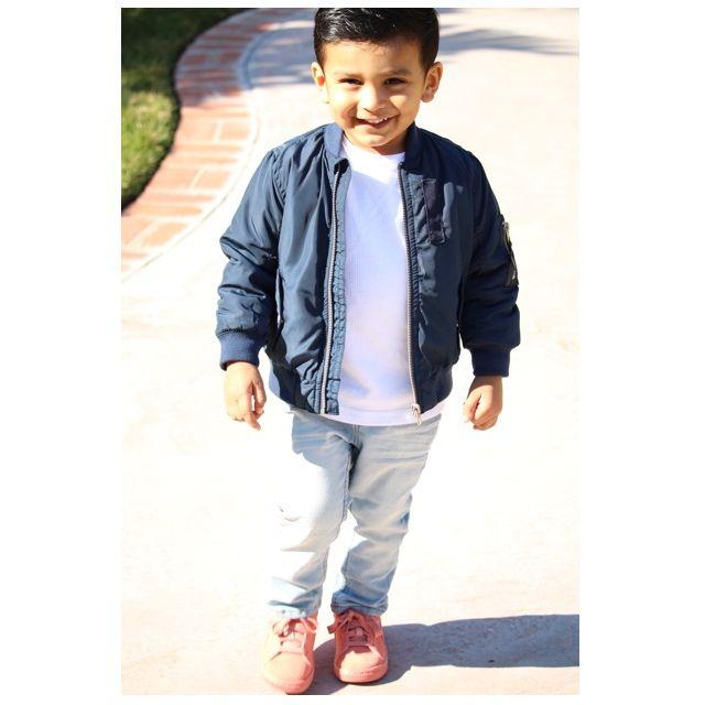 Toddler bomber jacket style