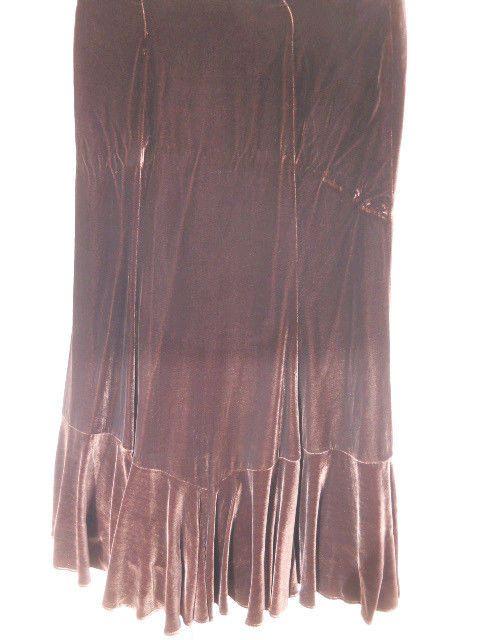 Brown Velvet Skirt 75