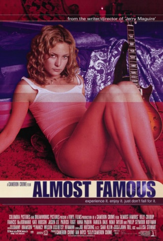 Almost Famous, starring Patrick Fugit, Billy Crudup, Kate Hudson, Frances McDormand, Jason Lee, Philip Seymour Hoffman, Fairuza Balk, Anna Paquin, Noah Taylor and Zooey Deschanel. Written and directed by Cameron Crowe. ($12.49)