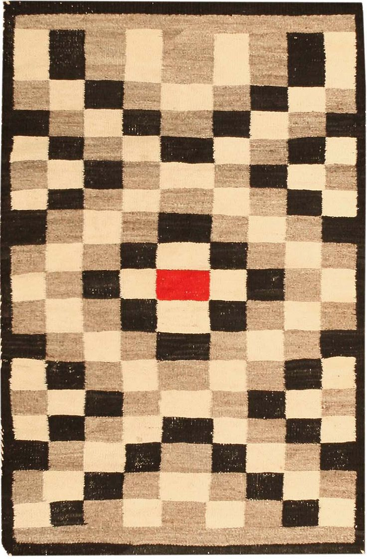 Antique Navajo American Rug Early 20th Century Rugged