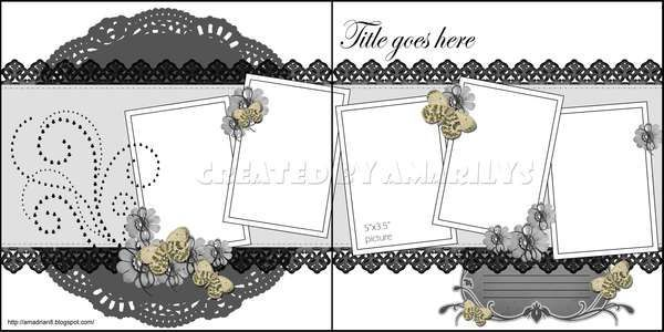 Nice double page scrapbooking template.