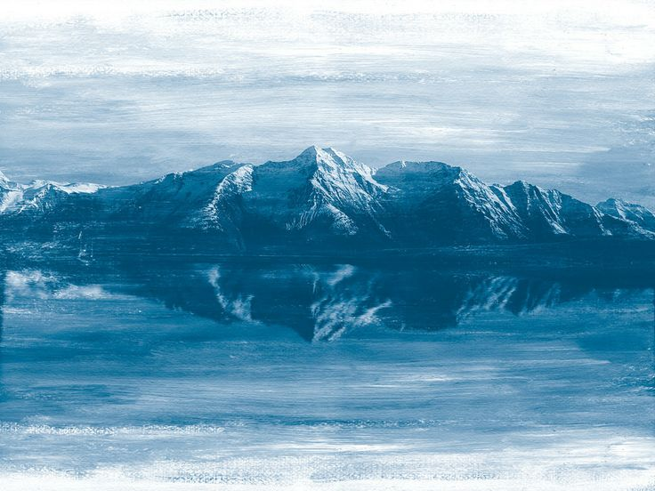 Mountainscape Blue #aqua-nova #canvas