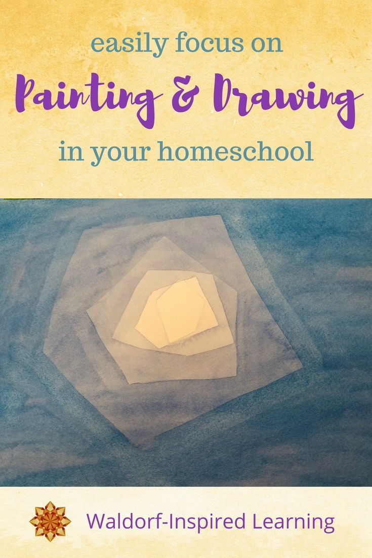 Easily Focus on Waldorf Painting and Drawing in Your Homeschool - tips for learning and practicing art with your children in your Waldorf homeschooling. Plus a review of Weekly Art Lessons from Waldorfish. #WaldorfArt