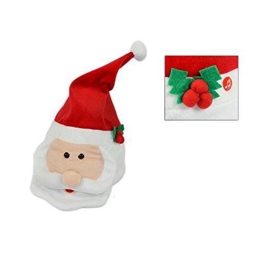 Cappello Babbo Natale con Movimento e Musica A28817