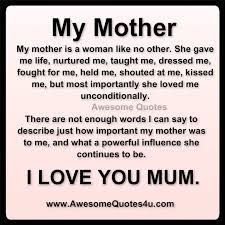 Exceptionnel Mother I Love You Quotes   Google Search