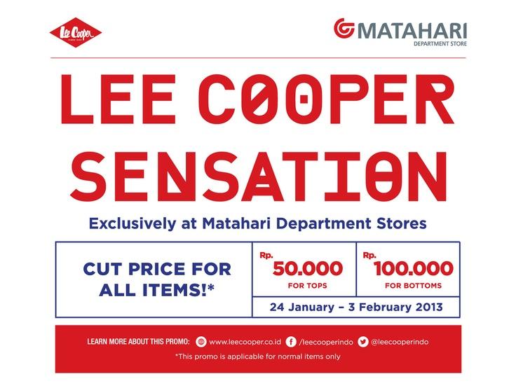 Lee Cooper Sensation Exclusively at Matahari Department Store