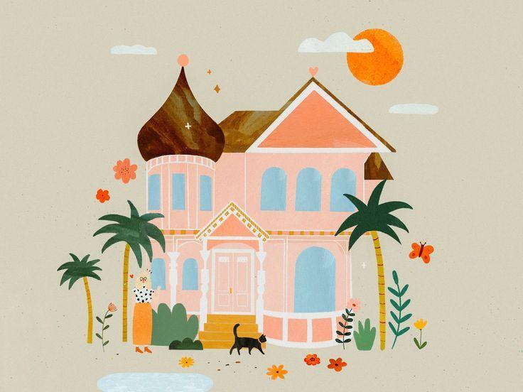 My Dream House My Dream Home Dream House House Illustration