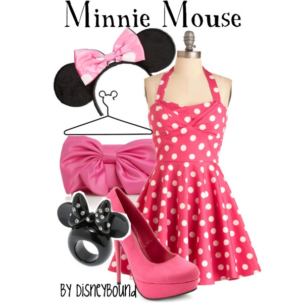 Minnie Mouse, created by lalakay #disney: Halloween Costume, Disney Outfits, Dress, Disney Inspired, Minnie Mouse, Disneybound, Disney Bound, Costume Idea, Disney Fashion