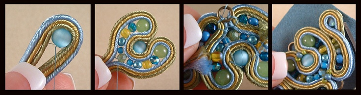 Soutache Jewelry Tutorials - click here to purchase a fabulous instructional DVD...it is the best one I've seen.