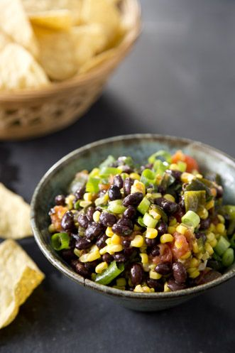 Paula Deen Roasted Corn, Pepper, and Black Bean Salsa