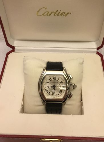 Cartier Roadster Automatic Chronograph In Box 2618 Steel Fancy Watch