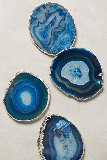 Anthropologie EU Gilded Agate Coasters