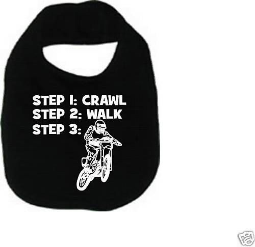 Crawl walk dirt bike cool custom  baby infant by KIDSROCKCLOTHING, $6.49!! Lol gotta get this for Alexys
