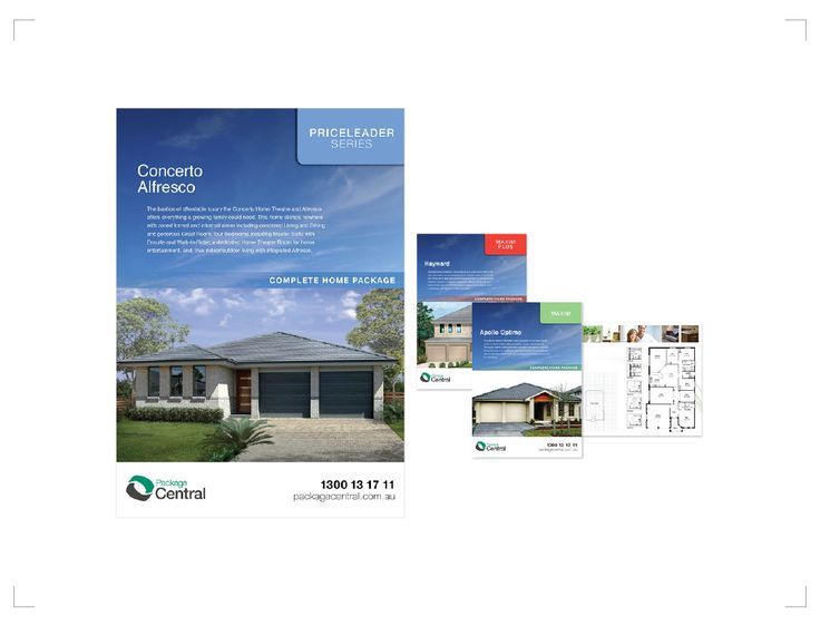 PACKAGE CENTRAL – Home and Land Series Brochures