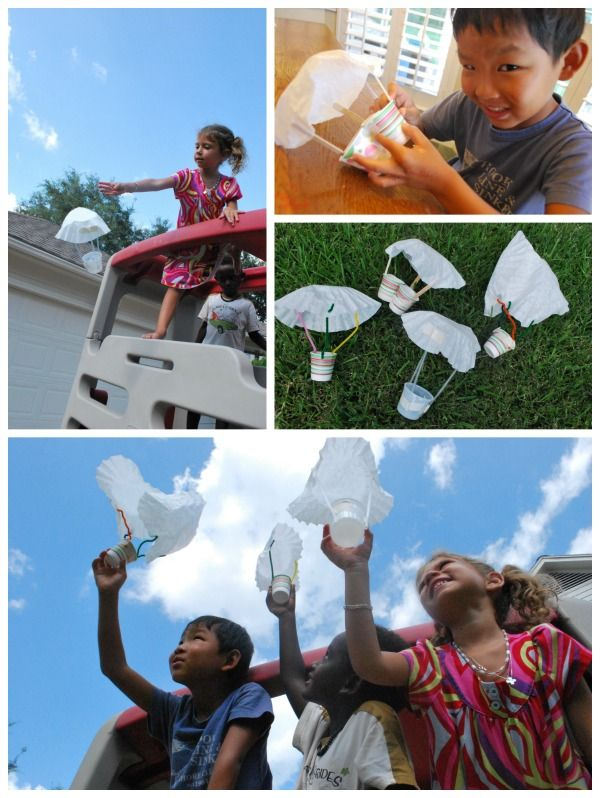 Engineering for kids: Building a working parachute is a fun STEM project that kids will love!