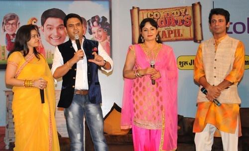 Promotion of a Upcoming Comedy TV Show in Amritsar - Upasna Singh, Kapil Sharma, Sumona Chakravarti, Sunil Grover