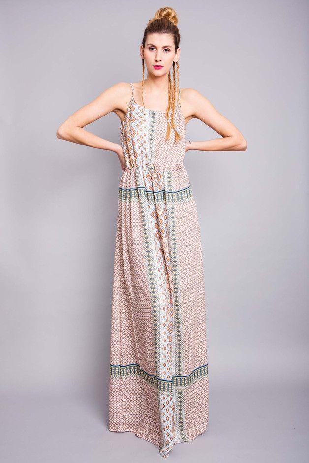 """Maxikleider - Maxi-Kleid """"Ashoka """", Ethno-Stoff - ein Designerstück von bluetezeit-berlin bei DaWanda"""