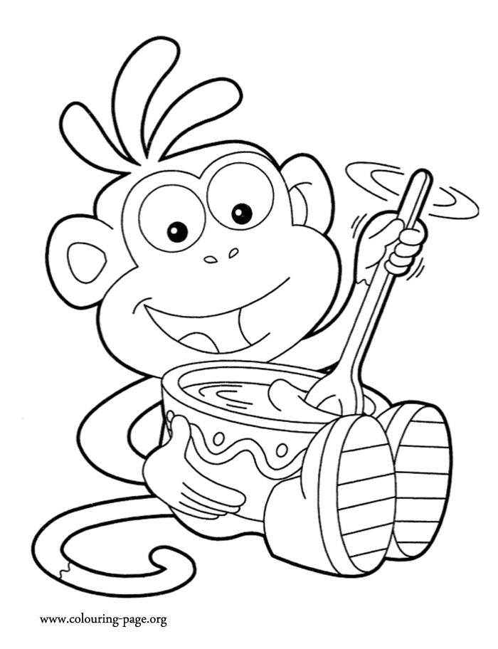 dora coloring pages backpack - photo#24