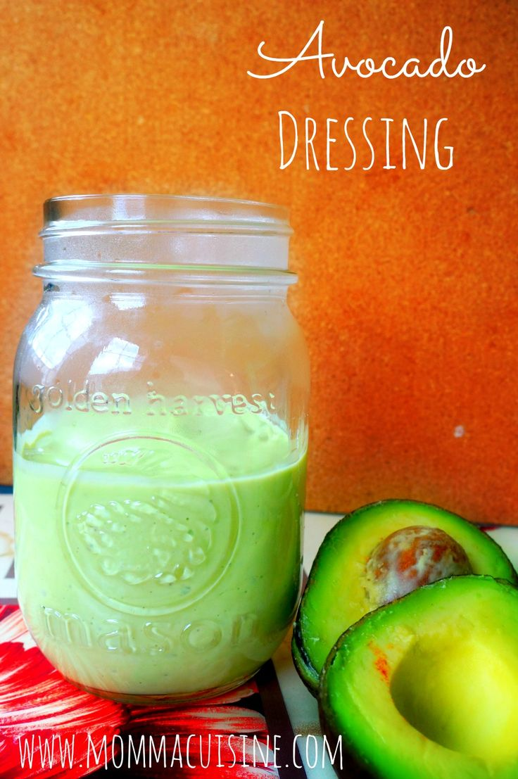 Simple Avocado Salad Dressing Recipe - how good would this be over a bed of spinach and tomatoes!? Talk about a skin-friendly salad!