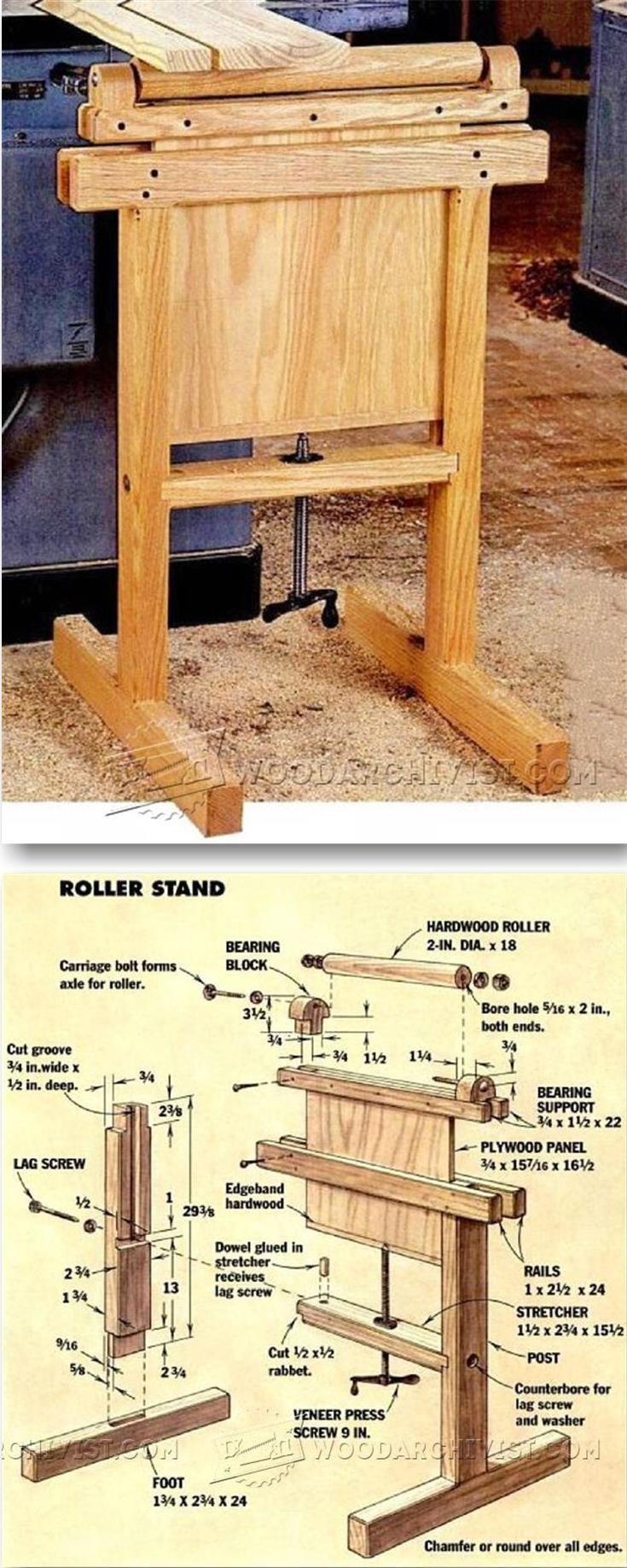 Roller Stand Plans - Workshop Solutions Plans, Tips and Tricks   WoodArchivist.com