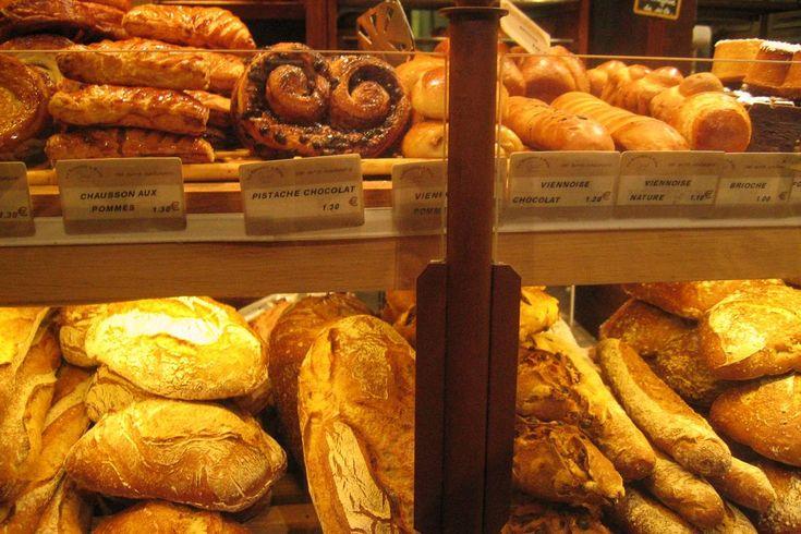 Foto di pane e dolci al panificio di Parigi Le Grenier à Pain. Foto: Frédérique Panassac