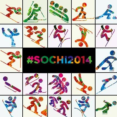 The Sochi 2014 Olympics Icon Designs. They are so colorful!