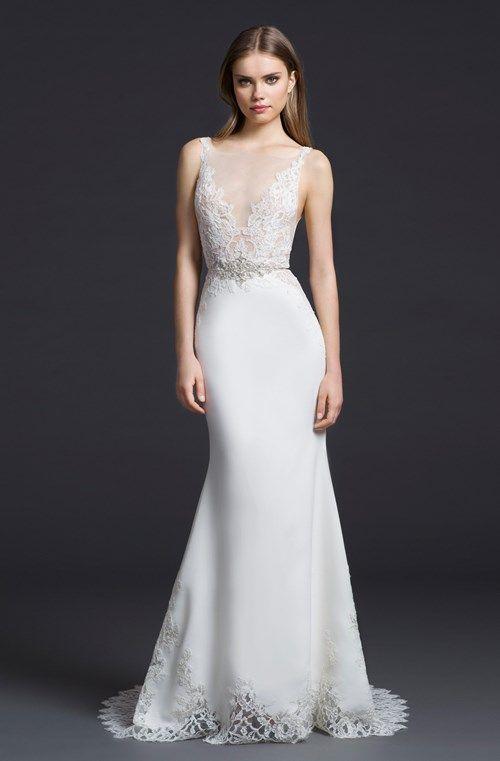 Lazaro: Bridal Gown: Sheath: Natural Waist | kleinfeldbridal.com