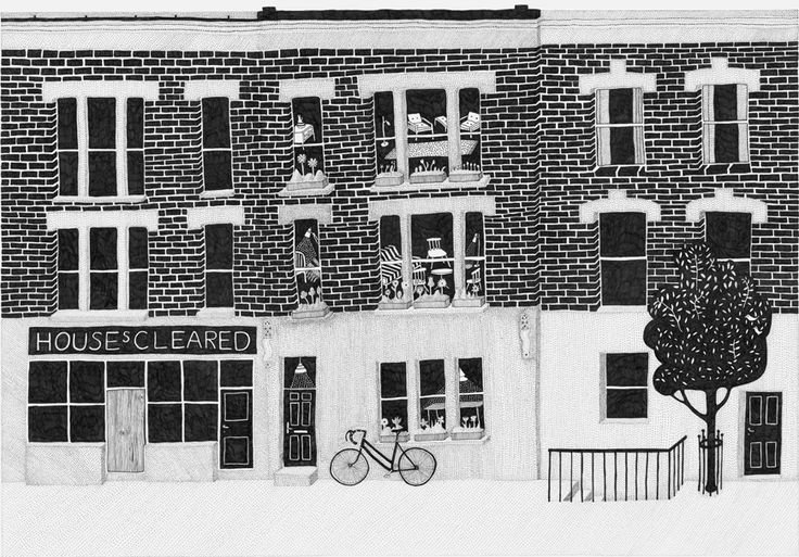 russell's of clapton #hotel #bandb ᔥremodelista; illustration by klas ernflo: Houses Prints, Hotels Russell, East London, Houses Art, Houses Illustrations, Klas Ernflo, Clapton London, Beautiful Illustrations, Houses Crafts