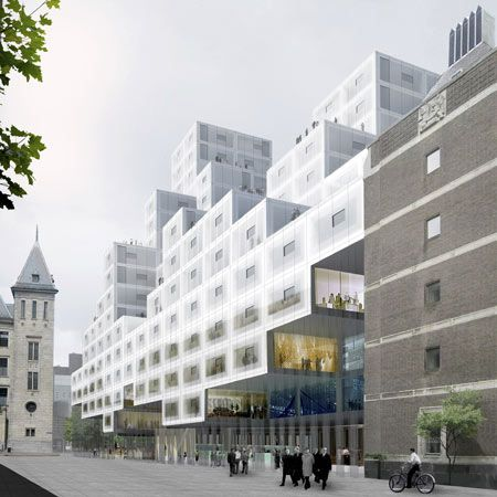 A city hall design for Rotterdam by OMA