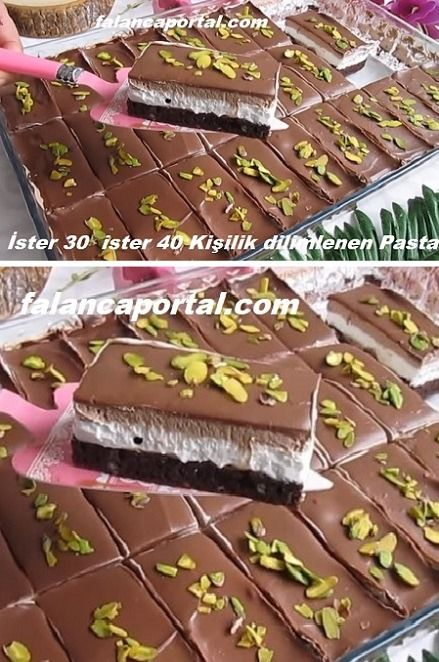 İster 30 ister 40 Kişilik Dilimlenen Pasta Tarifi