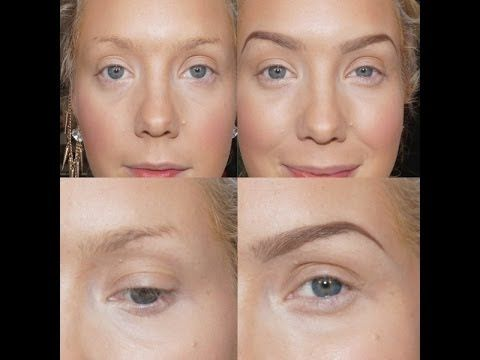 Perfect Eyebrows~Sculpting, Filling in For THIN SPARSE Eyebrows | Jade Madden - YouTube