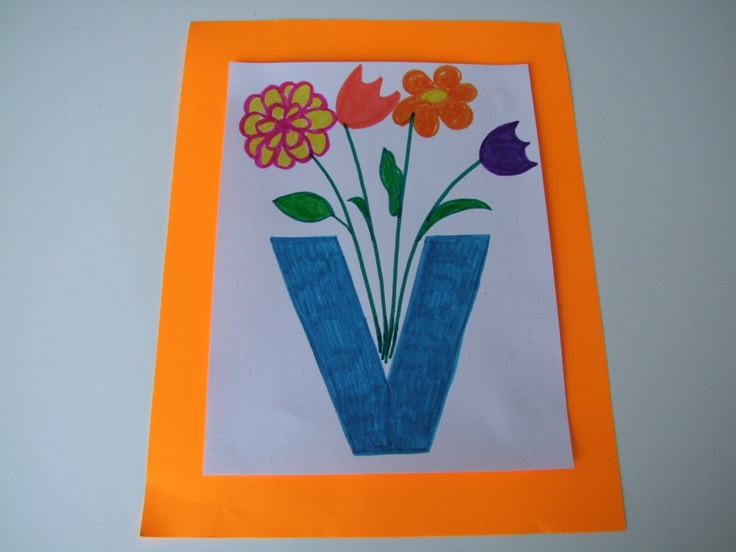 letter V for vase | Alphabet Ideas | Pinterest
