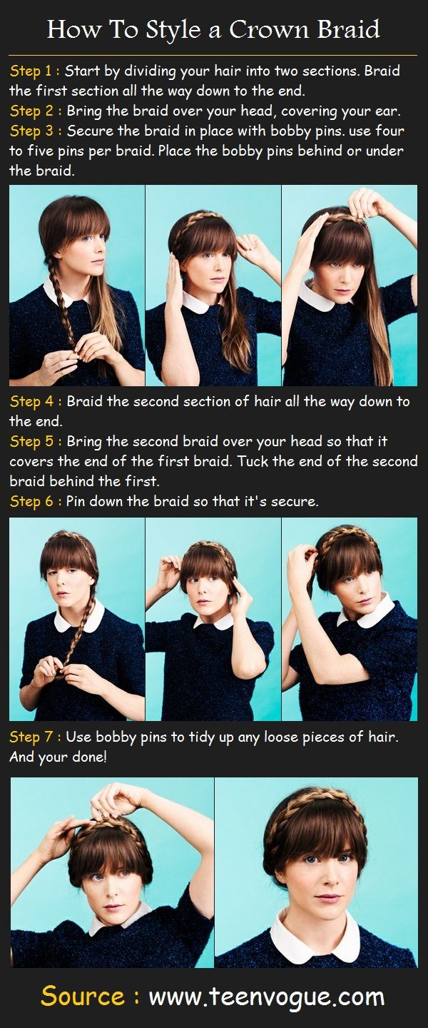 How To Do a Crown Braid | Beauty Tutorials  seriously wishing i did this before i cut all 3 feet of hair off hrrrgh
