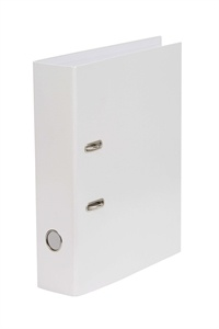 Cache Binder Lever Arch Leatherette A4 White