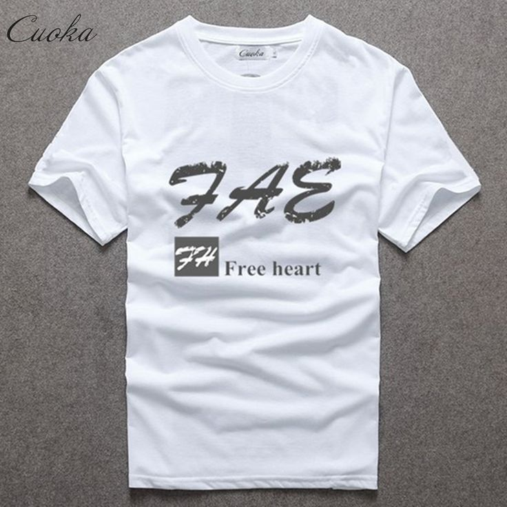 Cuoka new Men's Tops Tshirt casual casual hip-hop fashion trend Harajuku HBA clothing brand T-shirt male free shipping #Affiliate