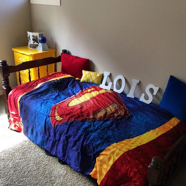 Superman Room For Lois   Work In Progress! Man Of Steel Bedding Purchased  Via Amazon