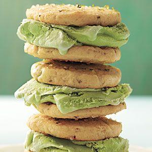 Margarita Ice-Cream Sandwiches | MyRecipes.comIce Cream Recipe, Ice Cream Sandwiches, Summer Desserts, Margaritas Ice Cream, May 5, Cooking Light, Sandwiches Recipe, Icecream Sandwiches, Healthy Desserts