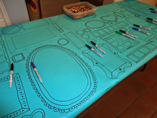Draw frames on butcher paper and let students fill them in.