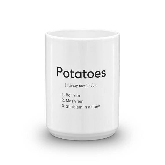 Potatoes // Lord of the Rings // Samwise Gamgee // Frodo Baggins // JRR Tolkien // Mug