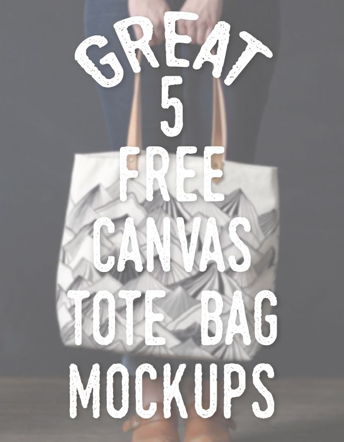 5 Great Free Canvas Tote Bag Mockups
