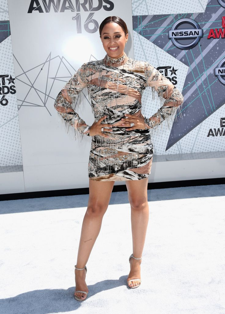 Tia Mowry  (Photo by Frederick M. Brown/Getty Images) via @AOL_Lifestyle Read more: http://m.aol.com/article/2016/06/26/2016-bet-award-red-carpet-arrivals-sizzle-with-scandalous-styles/21419386/?a_dgi=aolshare_pinterest#fullscreen