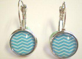 Handmade Blue Chevron Earrings $12 + postage  http://quirkystreet.bigcartel.com/product/blue-chevron-earrings