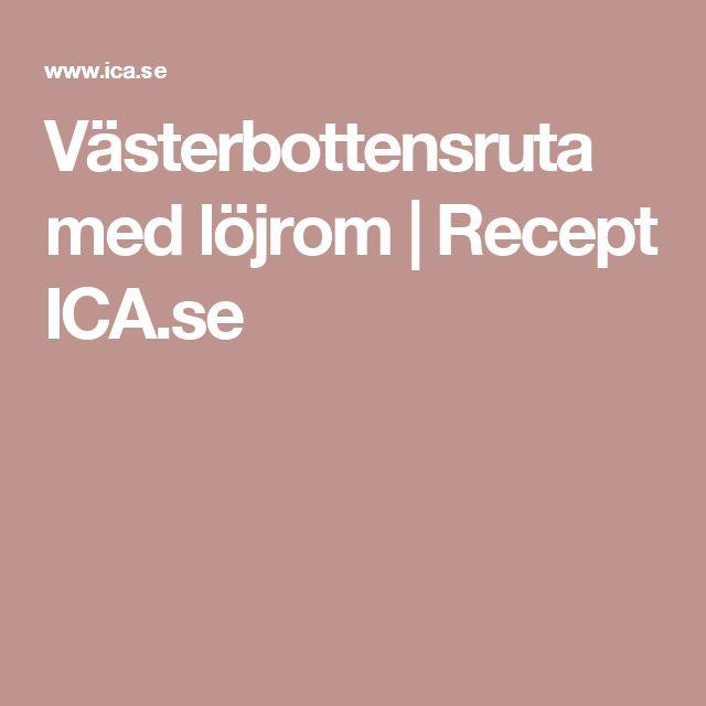 Västerbottensruta med löjrom | Recept ICA.se
