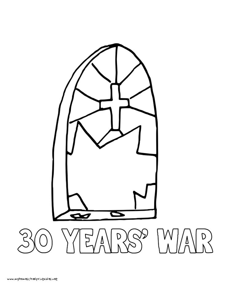 World History Coloring Pages Printables 30 Thirty Years War Defrenstration Of Prague