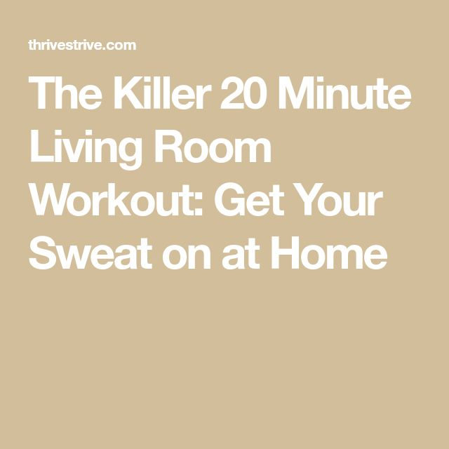 Sweat Wow Killer Kettlebell Workout: The Killer 20 Minute Living Room Workout: Get Your Sweat