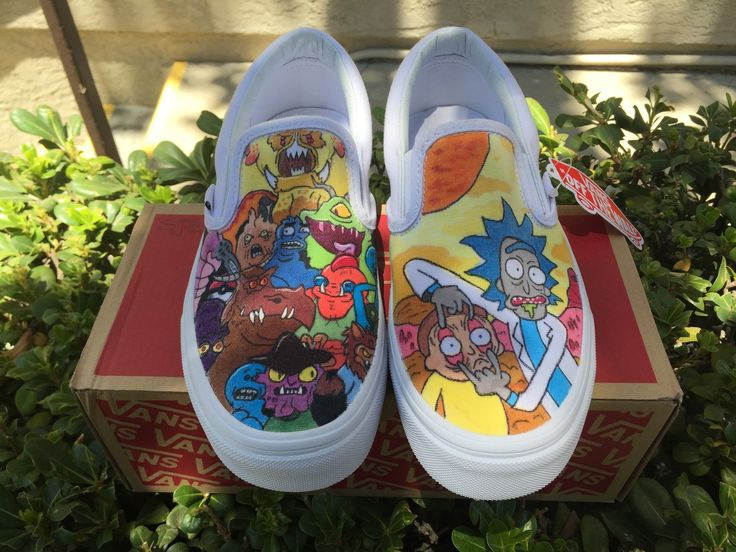 Custom Rick and Morty Vans