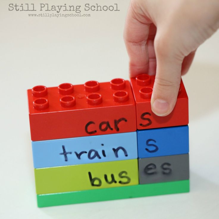 Plural Nouns LEGO Activity for Kids | Still Playing School