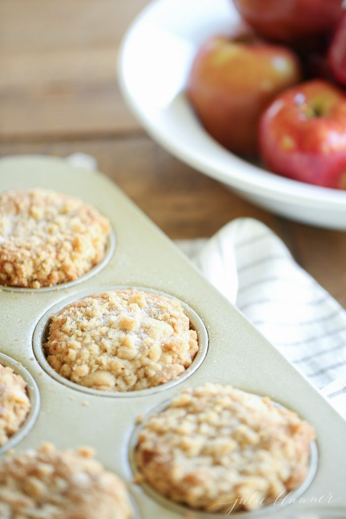 Apple Cobbler Muffins make a beautiful fall breakfast the entire family will enjoy!